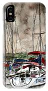 Sailboats At Night IPhone Case