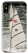 Sailboats In Central Park IPhone Case