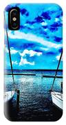 Sailboats Watching Weather IPhone Case