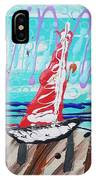 Sailing The Coast Abstract IPhone Case