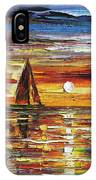 Sailing With The Sun IPhone Case