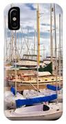 Sailoats Docked In Marina IPhone Case