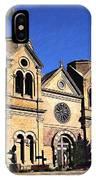 Saint Francis Cathedral Santa Fe IPhone Case
