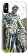 Saint Francis In Galapagos IPhone Case