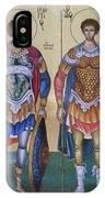 Saint George And Saint Dimitrios IPhone Case