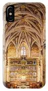 Saint Isidore - Romanesque Temple Altar And Vault - Vintage Version IPhone Case
