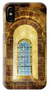 Saint Isidore - Romanesque Window With Stained Glass - Vintage Version IPhone Case