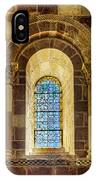 Saint Isidore - Romanesque Window With Stained Glass IPhone Case