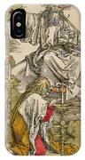 Saint John On The Island Of Patmos Receives Inspiration From God To Create The Apocalypse IPhone Case