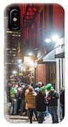 Saint Patrick's Day On Marshall Street Boston Ma IPhone Case