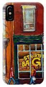 Saint Viareur And Park Avenue Bagel Shop IPhone Case
