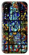 Sainte-mere-eglise Paratrooper Tribute Stained Glass Window IPhone Case