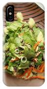 Orange Green Salad For Lunch With Pineapple Dressing IPhone X Case