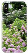 Pink Hydrangeas In Mirabell Garden IPhone Case