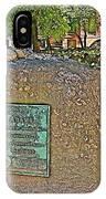 Samuel Adams Gravestone At Granary Burying Ground In  Boston-massachusetts IPhone Case