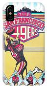 San Francisco 49ers Vintage Program IPhone Case