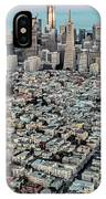 San Francisco Skyline And Coit Tower IPhone Case