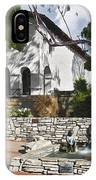 San Luis Mission Fountain IPhone Case