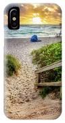 Sandy Walk Down To The Beach IPhone Case