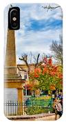 Santa Fe Obelisk A Pigeon And An Accordian Player IPhone Case