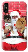 Santa Paws With Two Dogs IPhone Case