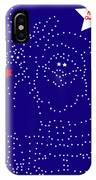 Santa Rudolph Stars Blue 2 IPhone Case