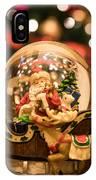 Santa Snow Globe IPhone Case