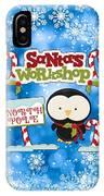 Santa's Workshop Penguin IPhone Case