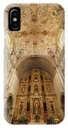 Santo Domingo Church Interior IPhone Case