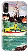 Sarasota Bay Sailboat IPhone Case