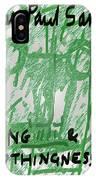 Sartre Poster Jp  IPhone Case