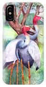 Sarus Cranes IPhone Case