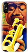 Satchmo, Louis Armstrong Painting IPhone Case
