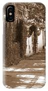 Savannah Sepia - Sunny Sidewalk IPhone Case