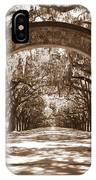 Savannaha Sepia - Wormsloe Plantation Gate IPhone Case