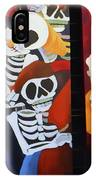 Sax Guitar Music Day Of The Dead  IPhone Case