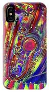 Sax Jazzed In Pink IPhone Case