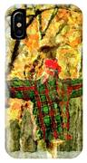scarecrow in field at Stanhope Waterloo Village IPhone Case