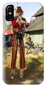 Scarecrow Walking On Stilts IPhone Case