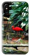 Scarlet Ibis IPhone Case