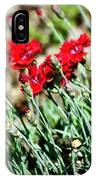 Scarlet Red Dianthus IPhone Case