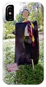 Scarry Potter Scarecrow At Cheekwood Botanical Gardens IPhone Case