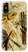Scene From A Fifties Craft Room IPhone Case