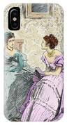 Scene From Anthony Trollope's Novel He Knew He Was Right IPhone Case