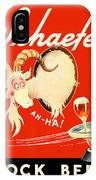 Schaefer Beer Vintage Ad IPhone Case