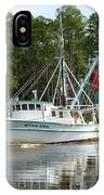 Schrimp Boat On Icw IPhone Case