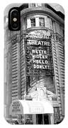 schubert theatre featuring hello dolly New York City USA IPhone Case