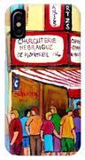 Schwartzs Hebrew Deli Montreal Streetscene IPhone Case