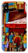 Schwartzs Lineup On St. Lawrence Montreal Streetscenes IPhone Case