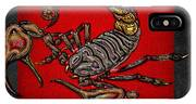 Scorpion On Red And Black  IPhone Case